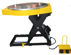 Hydraulic Lift Table with Rotating Galvanised Top